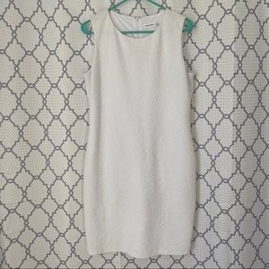 Calvin Klein White Sleeveless Sheath Dress